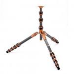 3 Legged Thing Equinox ALBERT Trípode de Fibra de Carbono profesional para viajeros 30Kg  (Bronce / Gris)