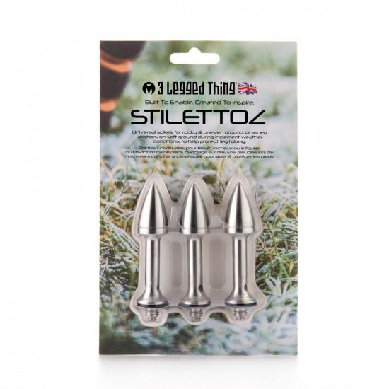 3 Legged Thing Stilettoz set de Spikes largos de acero inoxidable