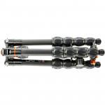3 Legged Thing Equinox LEO gris Trípode de Fibra de Carbono profesional para viajeros (Gunmetal / Grey)