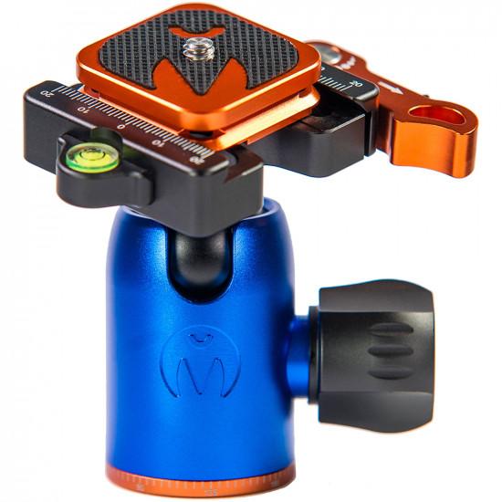3 Legged Thing Equinox LEO KIT Trípode de Fibra de Carbono profesional para viajeros con cabezal AirHed Switch (Bronce / Gris)