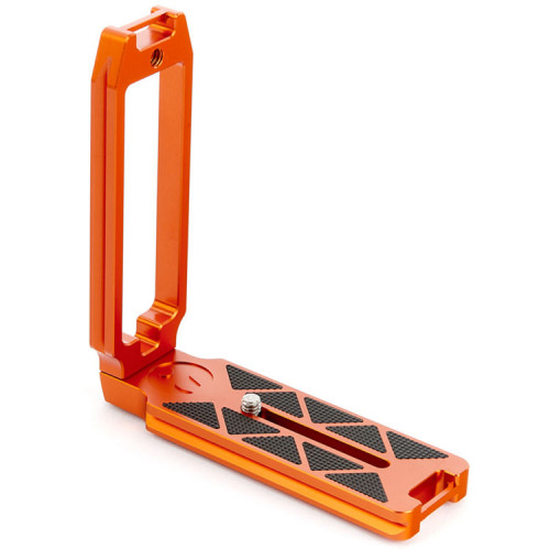 3 Legged Thing QR11-FBC Bracket Arca en L con conector dual de correas en Full Size (Naranja)