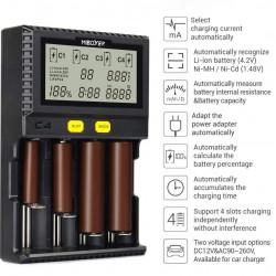 miBoxer Cargador para baterías 18650