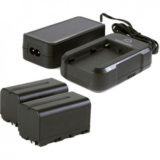 Atomos ATOMXPWRKT2 Power Kit 2 Baterias + Cargador