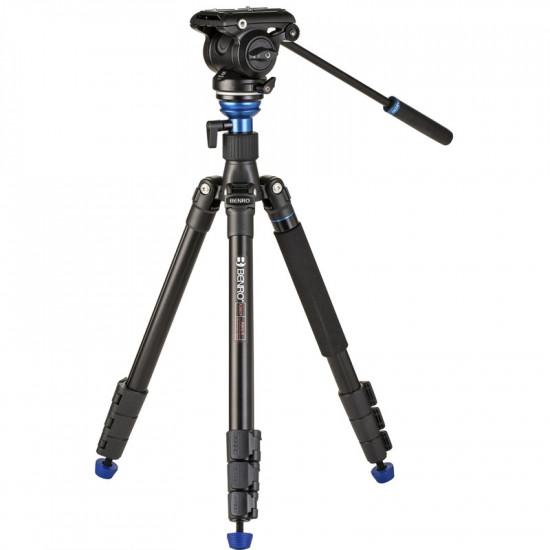 Benro A2883F Tripode de Video con cabezal fluido S4 Pro 4Kg cap.