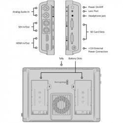 "Blackmagic 7"" 12G Video Assist 4K HDR HDMI/12G-SDI Grabador y Monitor 7"""