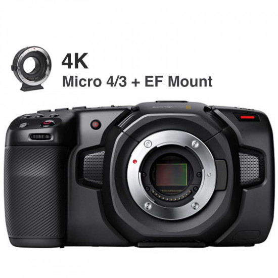 Blackmagic Design Kit EF Pocket Cinema Camera 4K (sólo cuerpo) Blackmagic RAW