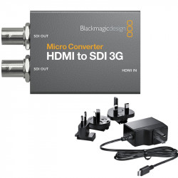 Blackmagic Design Micro Convertidor 3G de HDMI a SDI (2) con Power Supply