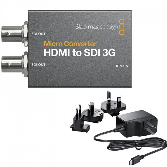 Blackmagic Design Micro Convertidor 3G de HDMI a SDI (2) con Power Supply