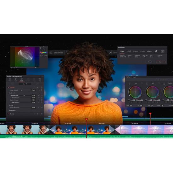 Blackmagic DaVinci Resolve 17 Licencia (Tarjeta de Activación) Studio compatible con upgrade