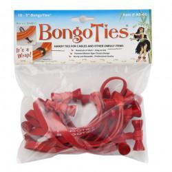 Bongo Ties Grip para Organizar Cables Rojo Pack de 10