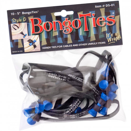 Bongo Ties Azure Grip para Organizar Cables Pack de 10 (azul)