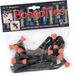 Bongo Ties Ton Lily Grip para Organizar Cables Pack de 10 (naranja)