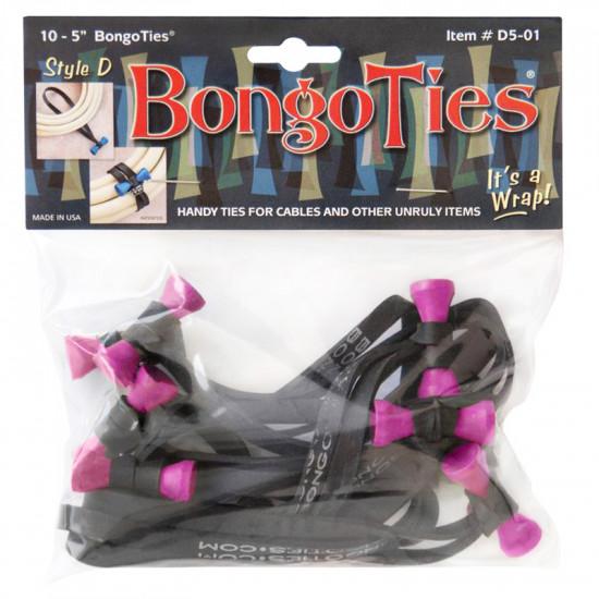 Bongo Ties Flamingo Grip para Organizar Cables Pack de 10 (pink)