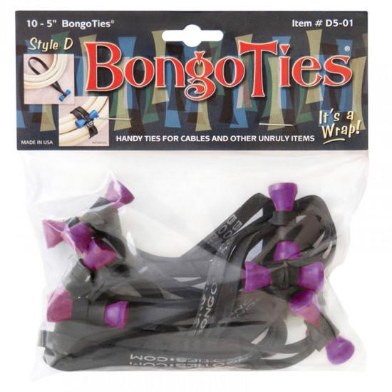 Bongo Ties Ube Grip para Organizar Cables Pack de 10 (morado)