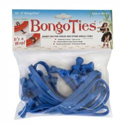 Bongo Ties Grip para Organizar Cables Azul Pack de 10