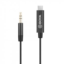 Boya BY-K2 Adaptador 3.5mm de TRS a USB-C
