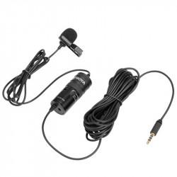 Boya BY-M1 Pro  Micrófono Lavalier para Cámaras, SmartPhones y Tablets