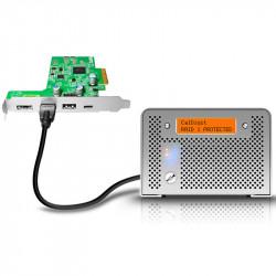 CalDigit FASTA-6GU3-Plus Tarjeta PCIe 4 eSATA 6G + USB 3.1 A +B