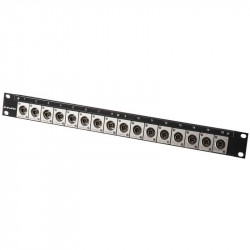 Canare 161U-BJRUK Patch Panel de rack con 16 BNC 12G-SDI 4K
