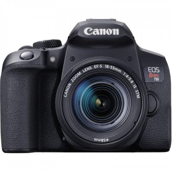 Canon Cámara EOS Rebel T8i con lente EF-S 18-55mm f / 4-5,6 IS STM