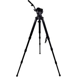 Cartoni Kit Video Focus 8 3-st StabilO CF System de cabezal y trípode de Fibra de Carbono de 75mm
