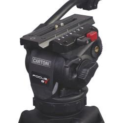 Cartoni Focus 8 Kit Video con trípode Aluminio con estrella al piso