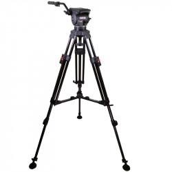 Cartoni KF12-2UM Focus 12 Kit con trípode de aluminio 2 Secciones y estrella media altura