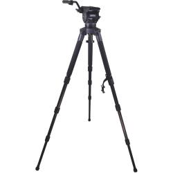 Cartoni Kit Video Focus 12 3-st StabilO CF System de cabezal y trípode de Fibra de Carbono de 100mm