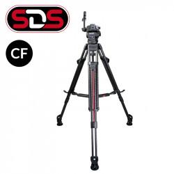 """Cartoni Kit Video de cabezal Focus 8 con trípode de Fibra de Carbono de 2 Secciones con sistema """"SDS"""" para despliegue rápido"""