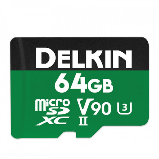 Delkin Devices microSDXC Power UHS-II 64GB V90 / U3 / Clase 10