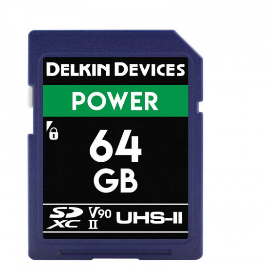 Delkin Devices Power SDXC 64GB V90 8K UHS-II U3 Lectura 300MB/s / 250MBs