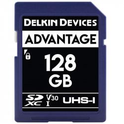 Delkin Devices Advantage SDXC 128GB V30 UHS-I U3 Lectura 90MB/s / 90MBs