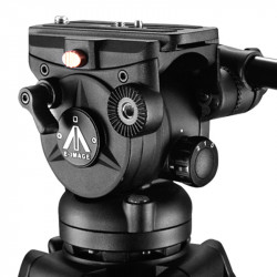 E-Image EI-7060-AA Cabezal Fluido 7060H + Trípode AT7402A  Cap 7kg.