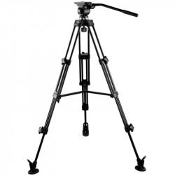 E-Image EI-7050-AA Cabezal Fluido 7050H + Trípode AT7402A  Cap 5kg.