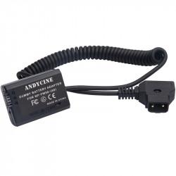 AndyCINE Batería Dummy NP-FW50 con conector D-Tap