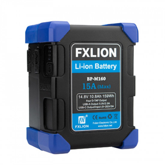 FXlion BP-M160 Batería Lithium V-Mount Compacta 159Wh 14.8V 15.0A (Max)