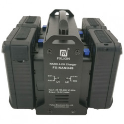 FXlion FX-NANO4S Cargador Nano V-Mount 4 baterías