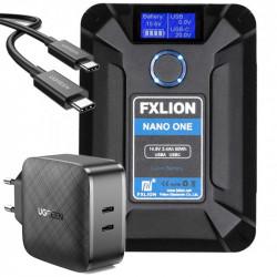 FXlion Nano ONE Batería V-Mount Ultra 50W 14.8V KIT con cargador