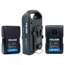 FXlion 2 Baterías Cool Black Lithium V-Mount 98W/h y cargador doble Fast Charger