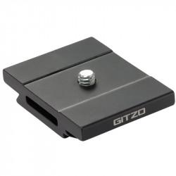 Gitzo GS5370SD Zapata / Galleta de liberación rápida, aluminio, perfil D corto