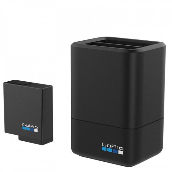 GoPro AADBD-001 Cargador de batería dual + batería (Compatible con HERO7 Black, HERO6 Black, HERO5 Black, y HERO 2018)