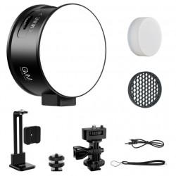 GVM 7SM Mini LED On-Camera Bicolor & RGB Doble lado
