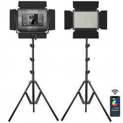GVM GVM-880RS Kit de 2 LED RGB Compacta + Bi-Color 60W