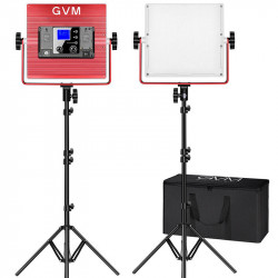 GVM R50R288-2L Kit de 2 LED Soft Light Compacta Bi-Color & RGB