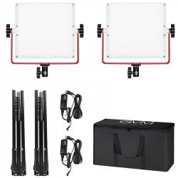 GVM R50R288-2L Kit de 2 LED Soft Light Compacta Bi-Color & RGB