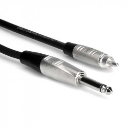 "Hosa HPR-020 Cable Plug Rean mono 1/4"" TS  a RCA Macho (6 mts)"