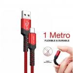 Cable USB-C a USB-A de 1 metro de largo (color rojo)