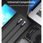 Cable USB-C a USB-C de 90cms 10Gbps/100W 4K@60Hz