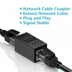 Coupler RJ45  para LAN Ethernet Cat7/Cat6/Cat5e/Cat5