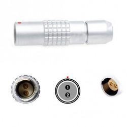 Conector 2 Pin Circular para conector de alimentación